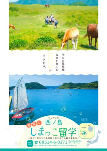 西ノ島しまっこ留学ポスター